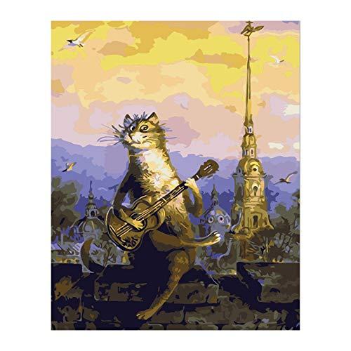 Pintura por números Bricolaje DIY Pintura al óleoImpresión de la lona Mural Decoración hogareña -Un
