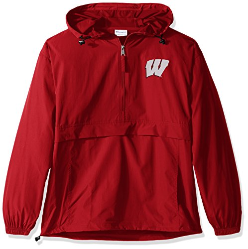 NCAA Wisconsin Badgers Men's Pack & Go Jacket, XX-Large, Classic Red (Badgers Pack Tee Wisconsin)