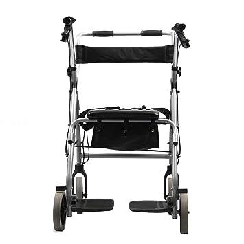 HYJ Andadores Ancianos Aleación de Aluminio con Freno de Mano Plegable para Personas Mayores, 8.5