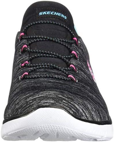 Skechers Women's Summit - Quick Getaway Black/Light Blue 8.5 B US