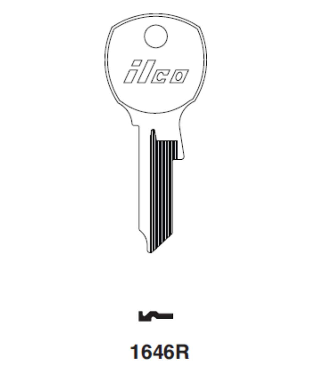 Key Blank For Usps Mailbox Locks (1646R) by Kaba Ilco (Image #2)