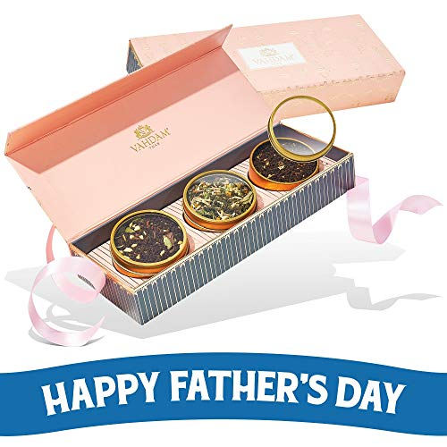 VAHDAM, Assorted Tea Gift Set   3 Delicious Healthy Tea in a Beautiful Tea Gift Set   Fathers Day Gift from Daughters   Oprah's Favorite Tea Brand   Perfect Gifts for Dad   Dad Gifts