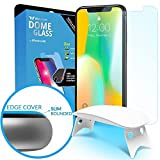 Dome Glass iPhone X Screen Protector Tempered Glass Shield, [Liquid Dispersion Tech] 2.5D Edge of...