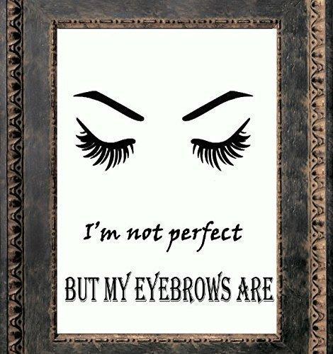 Makeup Print, Canvas Wall Art , Makeup Illustration, Salon Decor Quotes  Makeup, Eyebrow
