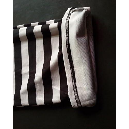 Noir Jambe Moollyfox Blanc Pantalon Décontracté Et Large Femmes Rayé dCxsQrth