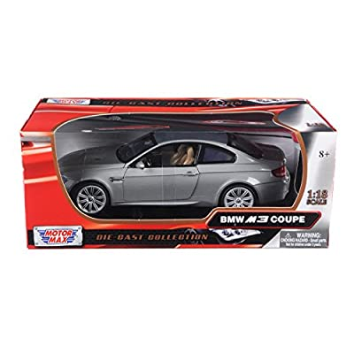 Motormax 73182 BMW M3 E92 Coupe Gray 1/18 Diecast Model Car: Toys & Games