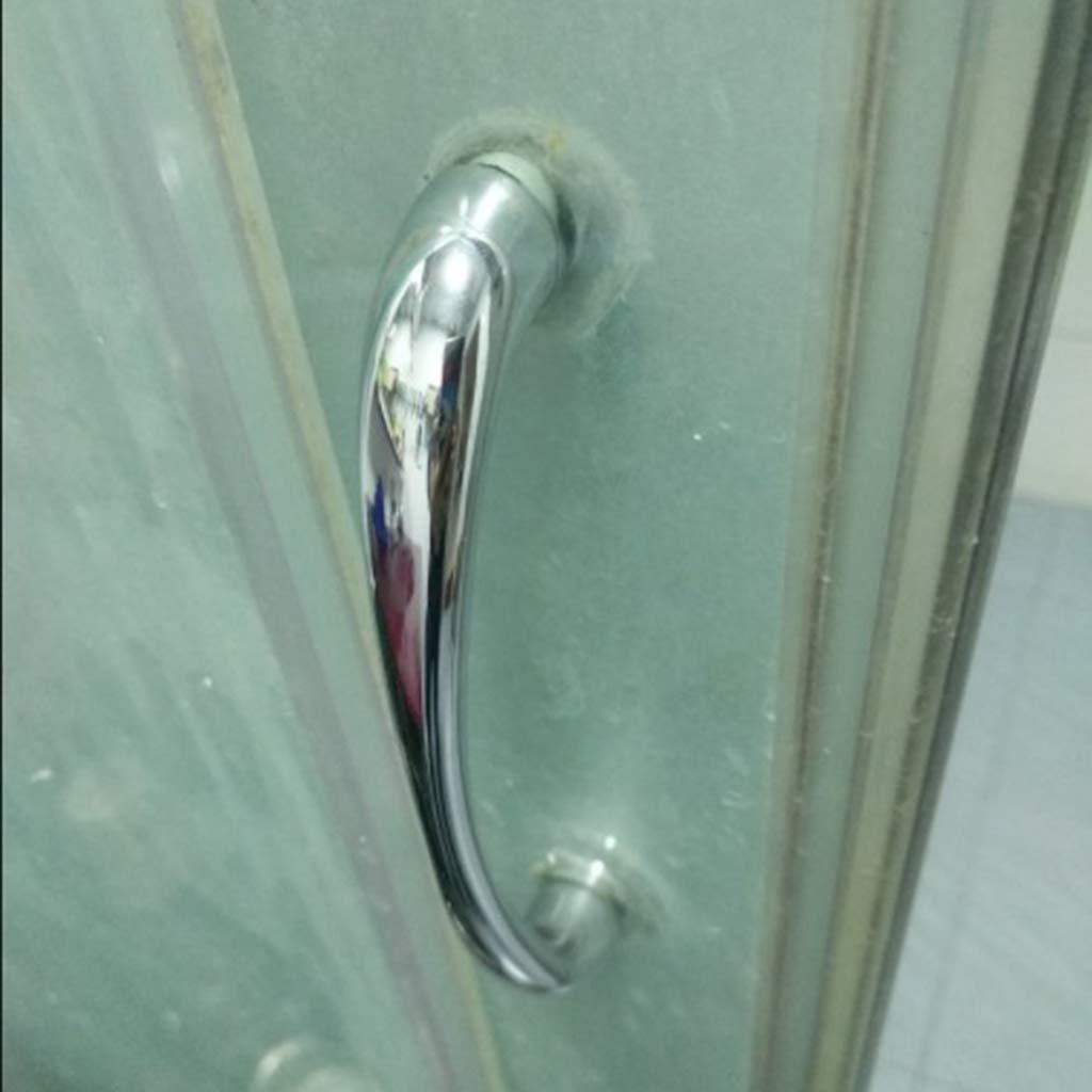 Silver FLAMEER Replacement Long Shower Door Pull Handle Doorknob for Frameless Shower Door 1