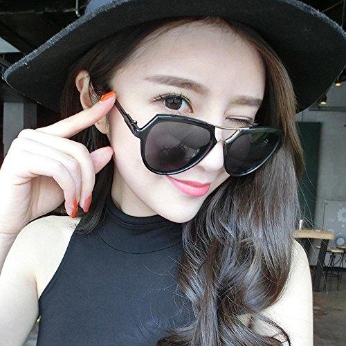 Aoligei Double faisceau lunettes version coréenne fashion lumineux couleur lunettes de soleil réfléchissantes 0CwmLrNS