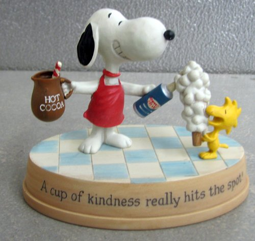 PAJ4501 A Cup of Kindness Really Hits the Spot! Snoopy and Woodstock Figurine