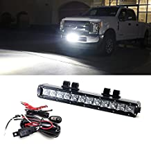 iJDMTOY 60W High Power CREE LED Light Bar w/ Lower Bumper Area Mounting Brackets, Relay Switch Wiring Kit For 2017-up Ford F-250 F-350 Super Duty