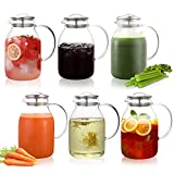 Hiware 68 Oz Glass Pitcher with Lid and Spout