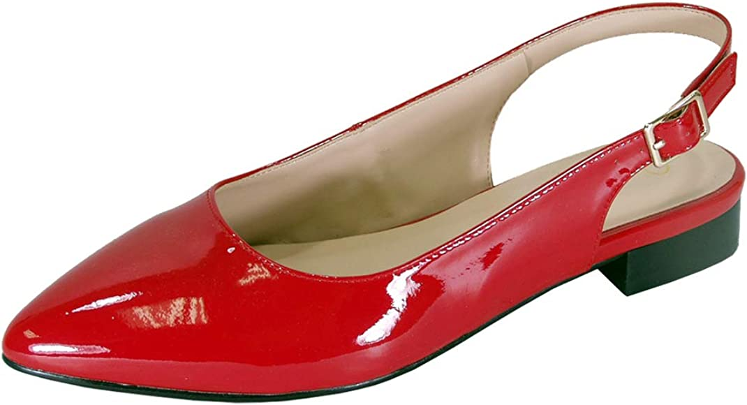 Women's Wide Width Pointed Toe Patent
