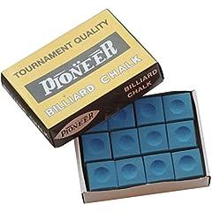 Injoyo Cuenta 12 Caja Cue Tip Chalk Y Chalk Holder para Snooker Pool Billiard Clubs