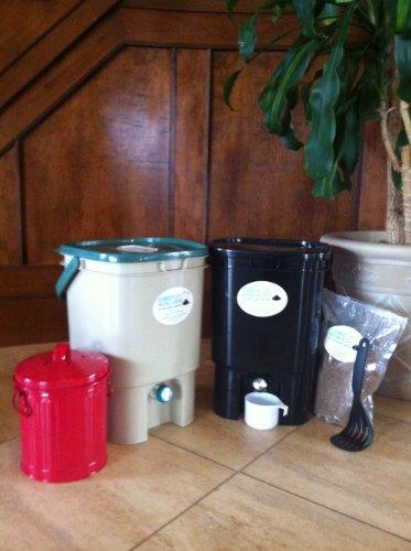 Bokashi Kitchen Composter - VermiHut Bokashi Compost Kit- Premium Twin Model
