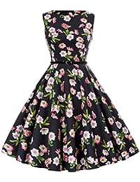Boatneck Sleeveless Vintage Tea Dress Belt