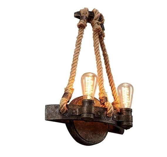 Amazon.com: Lámpara de pared retro brillante doble E27 ...
