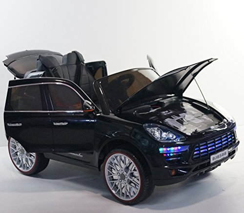 incredible porsche cayenne style 12v battery operated ride on toy car for kids with music lights remote control little kid cars