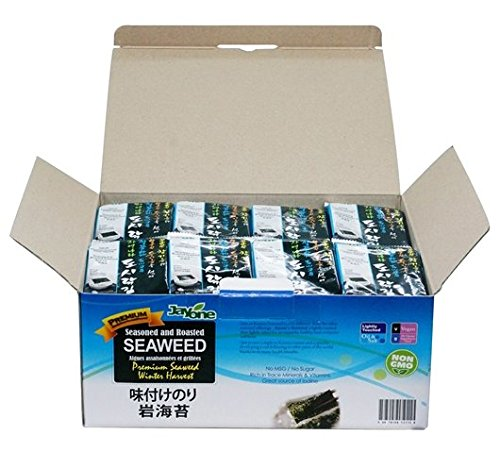 - Jayone Seaweed, Roasted and Lightly Salted, 24 Count, 0.17 Ounce