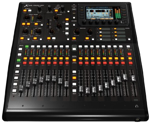 BEHRINGER, 32 X32 Producer-TP 40-Input 25-Bus Rack-Mountable Digital Mixing Console with 16 Programmable Midas Preamps Black (X32PRODUCERTP)