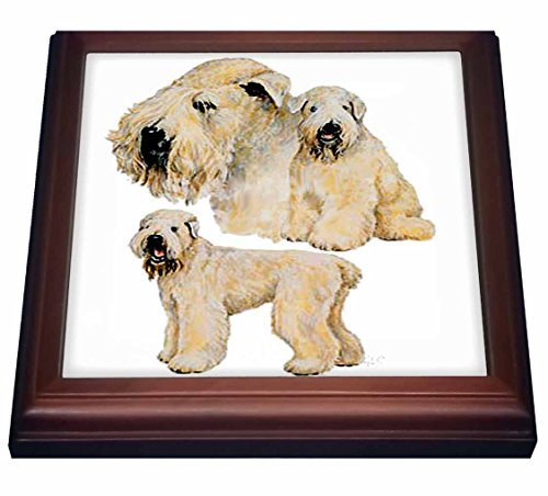 3dRose trv_870_1 Soft Coated Wheaten Terrier Trivet with Ceramic Tile, 8 by 8
