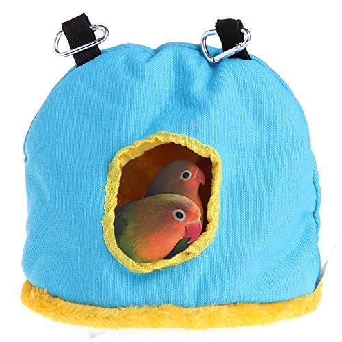 Winter Warm Bird Nest House Bed Hanging Tent Toy for Pet Parakeet Cockatiel Conure Cockatoo African Grey Macaw Amazon…