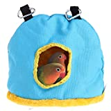 Winter Warm Bird Nest House Bed Hanging Tent Toy for Pet Parrot Budgie Parakeet Cockatiel Conure Cockatoo African Grey Eclectus Amazon Lovebird Finch Canary Small Medium Parrots Chinchilla Cage Perch