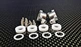 XMods Evolution Touring Upgrade Parts Aluminum Rear Knuckle Arm With Delrin Collars & Screws - 1Pr Set Silver