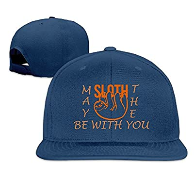 Fashion May The Sloth Be with You Adjustable Baseball Cap Snapback Plain Cap for Men/Women