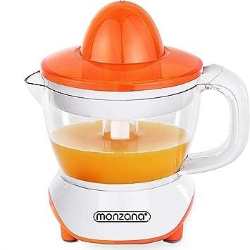 Monzana Exprimidor de zumo de eléctrico | exprimidor de naranjas | 40W | 1000ml | Rotación en dos sentidos | Apto para lavavagillas |: Amazon.es: Hogar