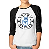 3/4 Sleeve Lady Casual Teeshirt With Shawn Mendes