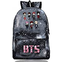 BTS BTS with The Surrounding Pattern Printing Korean Academic Style Backpack Leisure Student Bags (Starry sky4)