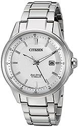 Citizen Eco-Drive Men's 'Titanium' Quartz Titanium Casual Watch, Color: Silver Tone (Model: AW1490-50A)
