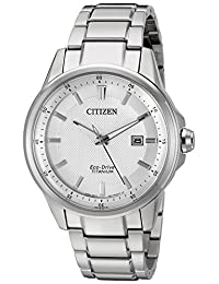Citizen Watches Men's AW1490-50A-Eco-Drive Titanium Silver Tone