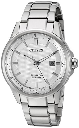 (Citizen Men's AW1490-50A Eco-Drive Stainless Steel Day-Date Silver Tone Watch)