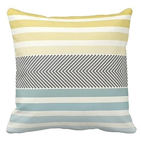 Awesome Amazon Com Aqua Yellow Gray Off White Arrow Herringbone Pdpeps Interior Chair Design Pdpepsorg