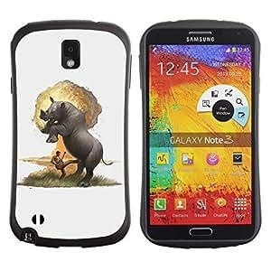Hybrid Anti-Shock Bumper Case for Samsung Galaxy Note 3 / Rhino Explosion