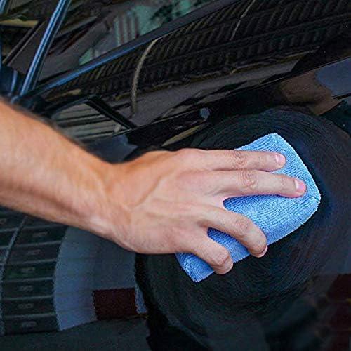 Wandofo 12pcs Microfiber Car Wash Cleaning Wax Polish Sponge Block Blue Advanced Sponge Pad Dedicated Brush Car Cleaning Car Wash Sponge Block
