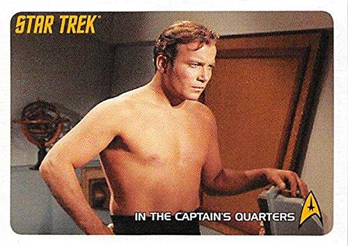 (William Shatner Captain Kirk trading card Star Trek Archives 2008 #160 Shirtless)