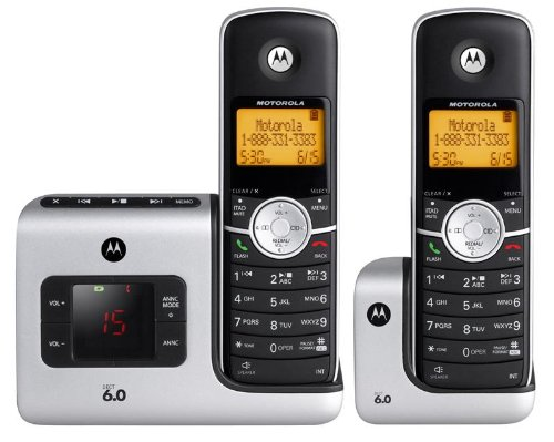Motorola DECT 6.0 L402 Cordless Phone with Answering System and 2 Handsets