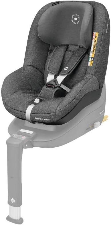 Bébé Confort PEARL SMART i-Size 'Sparkling Grey' - Silla coche para niños compatible con la base FamilyFix One, contramarcha y en sentido de la marcha, 6 meses-4 años, 9-18 kg, 67-105 cm, gris oscuro