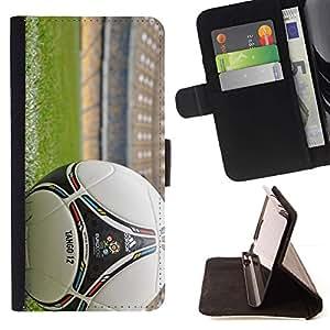 Momo Phone Case / Flip Funda de Cuero Case Cover - Balón de fútbol;;;;;;;; - Samsung Galaxy A3