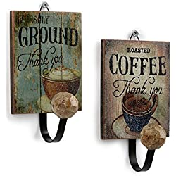 COSMOS 2 Pcs Antique Single Hook Wall Decor Wall Hanging Hooks for Home & Coffee Shop