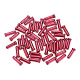 Mmrm Alloy Road Mountain Bicycle Bike Shifter Brake Cable Tips Caps End Tips Crimp (Red)