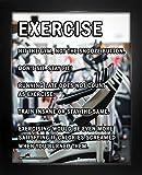 """Framed Exercise Motivational 8"""" x 10"""" Sport Poster Print"""