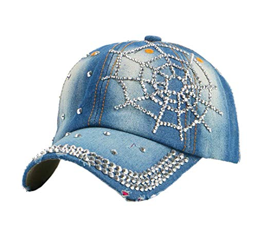Price comparison product image BAIELFES Beautiful Crown Shaped Outdoor Denim Rhinestone Baseball Cap