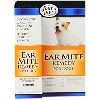 Amazon Com Four Paws Dog Ear Mite Remedy 0 75oz Pet
