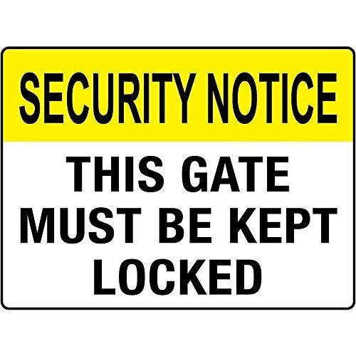 Seguridad aviso esta puerta debe mantenerse cerrada ...