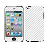 Skinomi Apple Ipod Touch 4Th Generation Screen Protector + Silver Carbon Fiber Full Body, TechSkin Silver Carbon Fiber Skin for Apple Ipod Touch 4Th Generation with Anti-Bubble Clear Film Screen