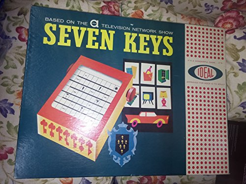 Vintage 1961 Ideal Seven Keys Board Game Based on ABC TV - Glass Bondi