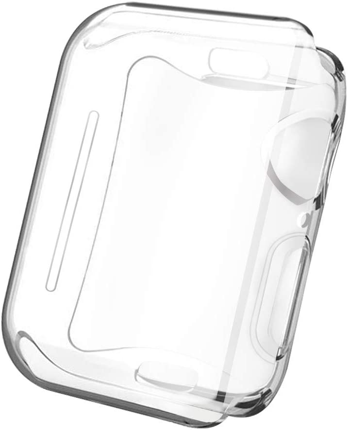 SLEO Case for New Apple Watch Series 4/5 44mm Watch Case, All-Around Ultra-Thin Transparent TPU Scratch Resistant Cover Case